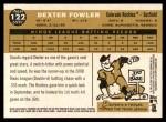 2009 Topps Heritage #122  Dexter Fowler  Back Thumbnail