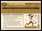 2009 Topps Heritage #69  Ray Durham  Back Thumbnail