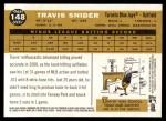 2009 Topps Heritage #148  Travis Snider  Back Thumbnail