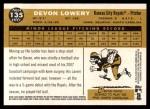 2009 Topps Heritage #135  Devon Lowery  Back Thumbnail