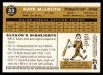 2009 Topps Heritage #55  Nate McLouth  Back Thumbnail