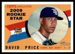 2009 Topps Heritage #73  David Price  Front Thumbnail