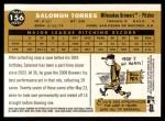 2009 Topps Heritage #156  Salomon Torres  Back Thumbnail