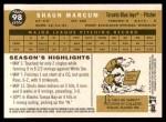 2009 Topps Heritage #98  Shaun Marcum  Back Thumbnail