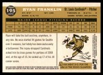 2009 Topps Heritage #195  Ryan Franklin  Back Thumbnail