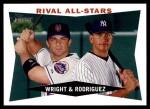 2009 Topps Heritage #160  David Wright/Alex Rodriguez  Front Thumbnail