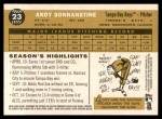 2009 Topps Heritage #23  Andy Sonnanstine  Back Thumbnail