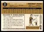 2009 Topps Heritage #3  Casey Kotchman  Back Thumbnail