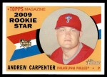 2009 Topps Heritage #138  Andrew Carpenter  Front Thumbnail