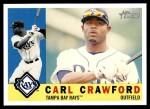 2009 Topps Heritage #166  Carl Crawford  Front Thumbnail