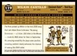 2009 Topps Heritage #119  Wilkin Castillo  Back Thumbnail