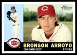 2009 Topps Heritage #187  Bronson Arroyo  Front Thumbnail