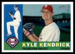 2009 Topps Heritage #185  Kyle Kendrick  Front Thumbnail