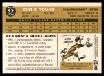 2009 Topps Heritage #52  Chris Young  Back Thumbnail