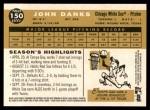 2009 Topps Heritage #150  John Danks  Back Thumbnail