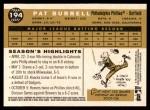2009 Topps Heritage #194  Pat Burrell  Back Thumbnail