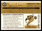2009 Topps Heritage #274  Matt Garza  Back Thumbnail