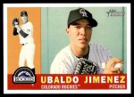 2009 Topps Heritage #291  Ubaldo Jimenez  Front Thumbnail