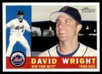 2009 Topps Heritage #383  David Wright  Front Thumbnail
