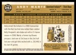 2009 Topps Heritage #243  Andy Marte  Back Thumbnail
