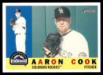 2009 Topps Heritage #298  Aaron Cook  Front Thumbnail