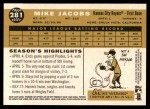 2009 Topps Heritage #281  Mike Jacobs  Back Thumbnail