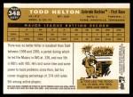 2009 Topps Heritage #348  Todd Helton  Back Thumbnail