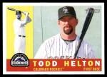 2009 Topps Heritage #348  Todd Helton  Front Thumbnail
