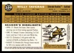 2009 Topps Heritage #359  Willy Taveras  Back Thumbnail