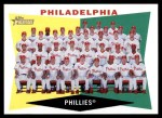 2009 Topps Heritage #302   Phillies Team Checklist Front Thumbnail