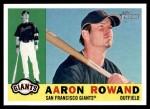2009 Topps Heritage #312  Aaron Rowand  Front Thumbnail
