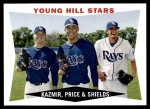 2009 Topps Heritage #399  Scott Kazmir/David Price/James Shields  Front Thumbnail