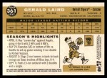 2009 Topps Heritage #361  Gerald Laird  Back Thumbnail