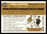 2009 Topps Heritage #324  John Lannan  Back Thumbnail