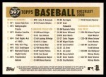 2009 Topps Heritage #397   Cubs Team Checklist Back Thumbnail