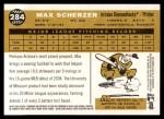 2009 Topps Heritage #284  Max Scherzer  Back Thumbnail