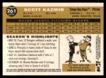2009 Topps Heritage #261  Scott Kazmir  Back Thumbnail