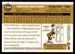 2009 Topps Heritage #244  Trevor Hoffman  Back Thumbnail