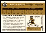 2009 Topps Heritage #332  David Ortiz  Back Thumbnail