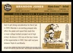 2009 Topps Heritage #246  Brandon Jones  Back Thumbnail