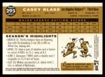2009 Topps Heritage #295  Casey Blake  Back Thumbnail