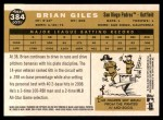 2009 Topps Heritage #384  Brian Giles  Back Thumbnail