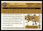 2009 Topps Heritage #373  Andy LaRoche  Back Thumbnail