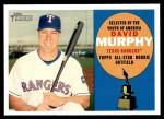 2009 Topps Heritage #322  David Murphy  Front Thumbnail
