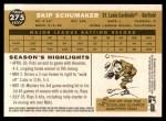 2009 Topps Heritage #275  Skip Schumaker  Back Thumbnail