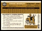 2009 Topps Heritage #285  Chase Headley  Back Thumbnail