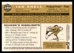 2009 Topps Heritage #340  Ian Snell  Back Thumbnail