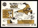 2009 Topps Heritage #215  Bobby Cox  Back Thumbnail