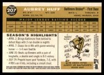 2009 Topps Heritage #207  Aubrey Huff  Back Thumbnail
