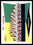 2009 Topps Heritage #242   Cardinals Team Checklist Front Thumbnail
